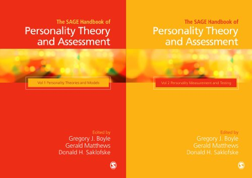 The Sage Handbook of Personality Theory and Assessment: Collection (Hardcover): Donald H. Saklofske