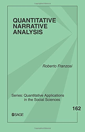 9781412925259: Quantitative Narrative Analysis (Quantitative Applications in the Social Sciences)