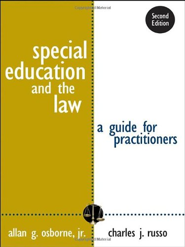 9781412926225: Special Education and the Law: A Guide for Practitioners