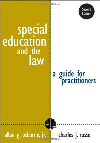 9781412926232: Special Education and the Law: A Guide for Practitioners
