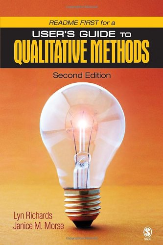 9781412927437: README FIRST for a User's Guide to Qualitative Methods