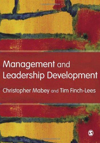 9781412929011: Management and Leadership Development