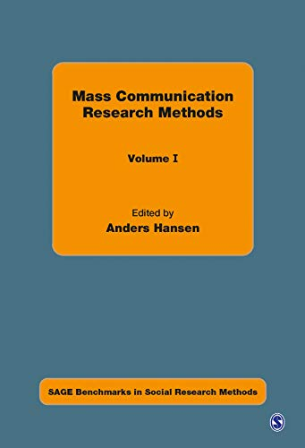 9781412930048: Mass Communication Research Methods (SAGE Benchmarks in Social Research Methods)