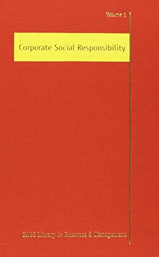 9781412930635: Corporate Social Responsibility (SAGE Library in Business and Management) 3 Vol Set (v. 1)