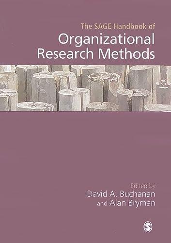 9781412931182: The SAGE Handbook of Organizational Research Methods