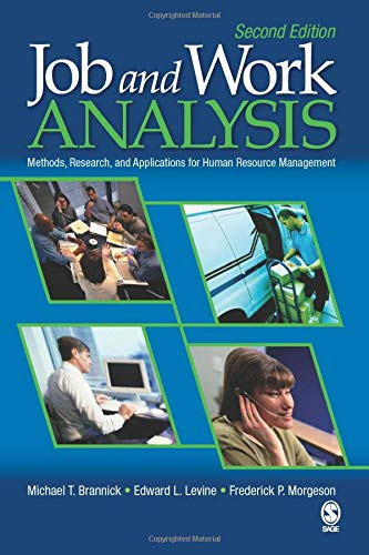 9781412937467: Job and Work Analysis: Methods, Research, and Applications for Human Resource Management