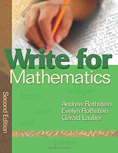 9781412939942: Write for Mathematics