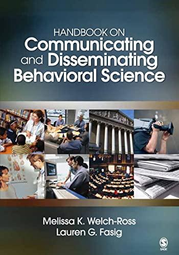 9781412940313: Handbook on Communicating and Disseminating Behavioral Science