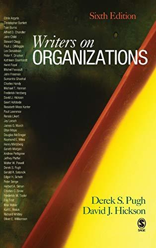 9781412941020: Writers on Organizations