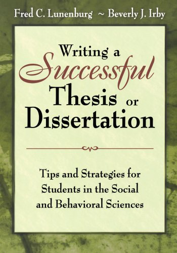 9781412942256: Writing a Successful Thesis or Dissertation: Tips and Strategies for Students in the Social and Behavioral Sciences