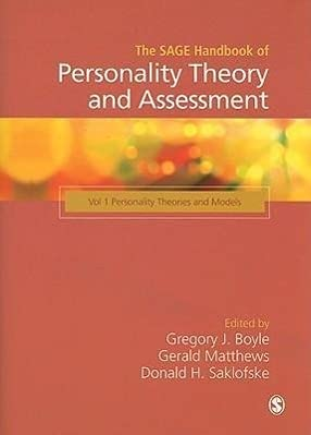 9781412946513: The SAGE Handbook of Personality Theory and Assessment: Personality Theories and Models (Volume 1)