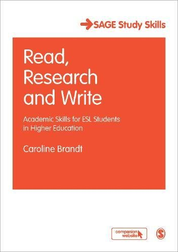 9781412947367: Read, Research and Write: Academic Skills for ESL Students in Higher Education (SAGE Study Skills Series)