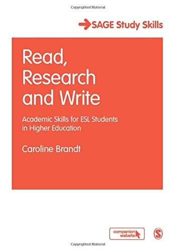 9781412947374: Read, Research and Write: Academic Skills for ESL Students in Higher Education (SAGE Study Skills Series)