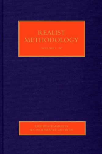 9781412948630: Realist Methodology (SAGE Benchmarks in Social Research Methods)