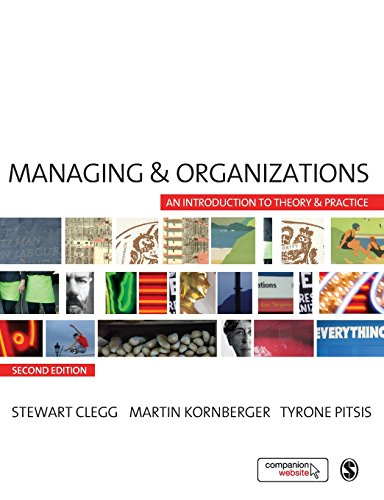9781412948784: Managing and Organizations: An Introduction to Theory and Practice