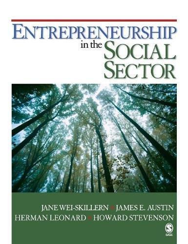 9781412951371: Entrepreneurship in the Social Sector
