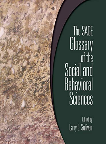 9781412951432: The SAGE Glossary of the Social and Behavioral Sciences