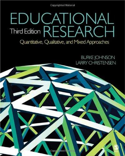 Educational research: quantitative, qualitative, and mixed.