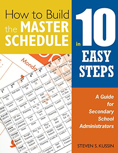 9781412955911: How to Build the Master Schedule in 10 Easy Steps: A Guide for Secondary School Administrators