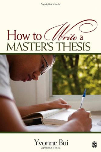 9781412957106: How to Write a Master's Thesis
