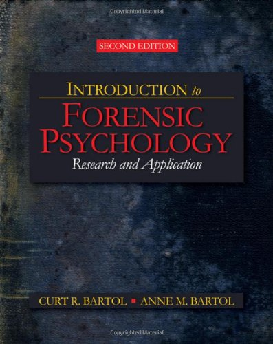 9781412958301: Introduction to Forensic Psychology: Research and Application