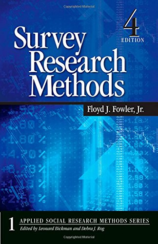 Survey Research Methods: Fowler Floyd J