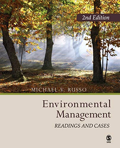 Environmental Management: Readings and  Cases: Russo, Mike