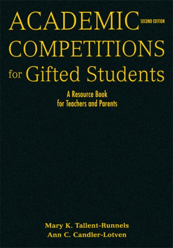 9781412959100: Academic Competitions for Gifted Students: A Resource Book for Teachers and Parents