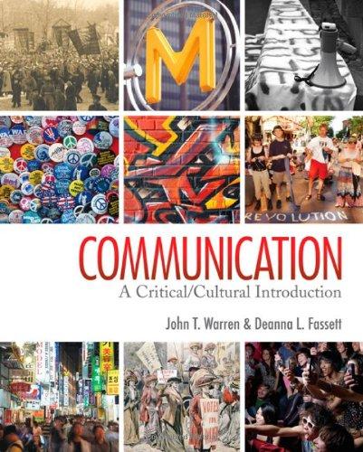 9781412959421: Communication: A Critical/Cultural Introduction