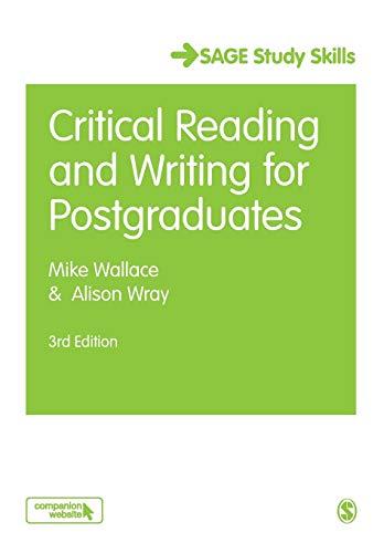 9781412961820: Critical Reading and Writing for Postgraduates (SAGE Study Skills Series)