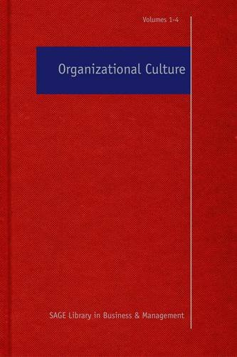 9781412961936: Organizational Culture (SAGE Library in Business and Management)