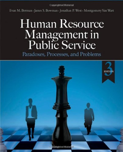 9781412967433: Human Resource Management in Public Service: Paradoxes, Processes, and Problems