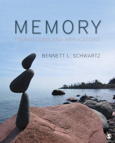 Memory: Foundations and Applications: Schwartz, Bennett L.