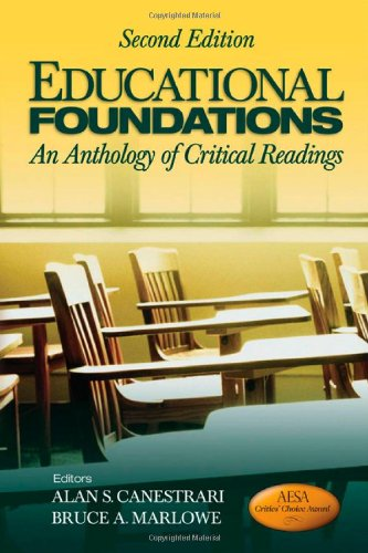 9781412974387: Educational Foundations: An Anthology of Critical Readings