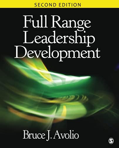 9781412974752: Full Range Leadership Development