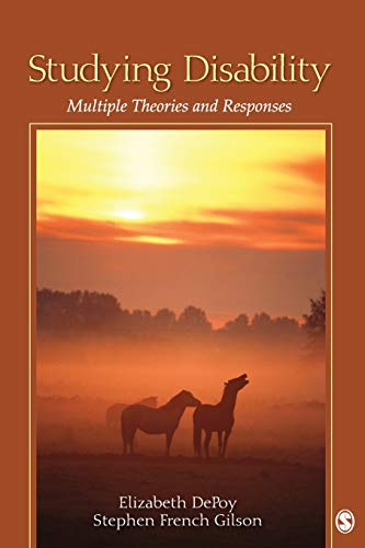9781412975766: Studying Disability: Multiple Theories and Responses