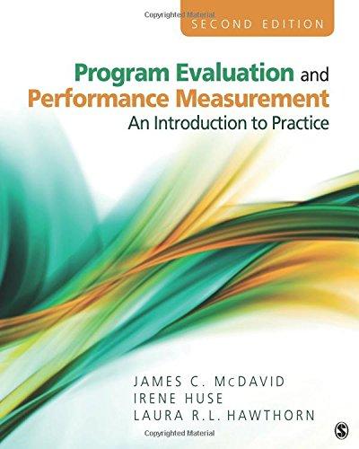 Program Evaluation and Performance Measurement: Mcdavid, James C.;