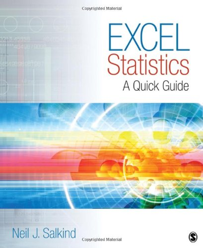9781412979634: Excel Statistics: A Quick Guide