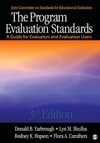9781412989084: The Program Evaluation Standards: A Guide for Evaluators and Evaluation Users