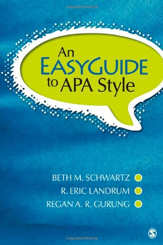 9781412991247: An EasyGuide to APA Style