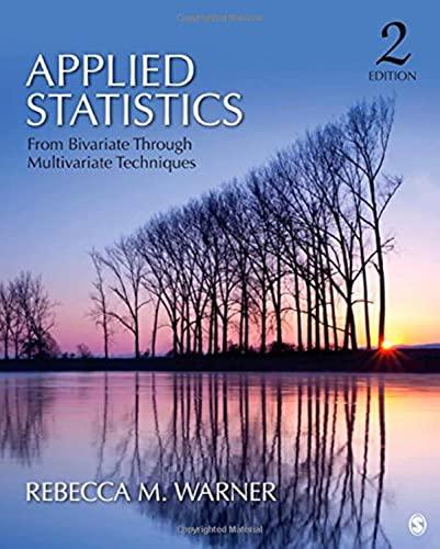 9781412991346: Applied Statistics: From Bivariate Through Multivariate Techniques