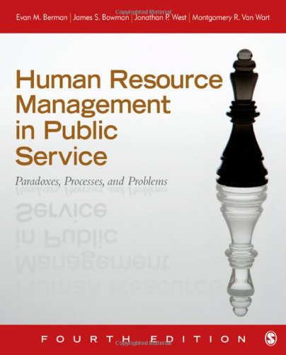 9781412991674: Human Resource Management in Public Service: Paradoxes, Processes, and Problems
