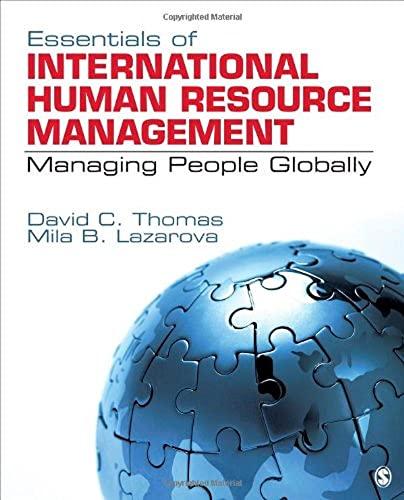 Essentials of International Human Resource Management: Essentials: Thomas, David C./