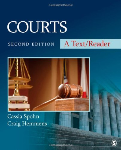9781412997188: Courts: A Text/Reader (SAGE Text/Reader Series in Criminology and Criminal Justice)