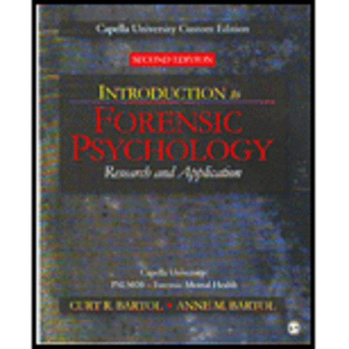 9781412999496: Introduction to Forensic Psychology: Research and Application
