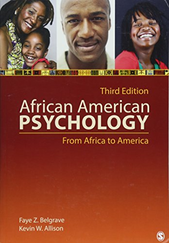 9781412999540: African American Psychology: From Africa to America