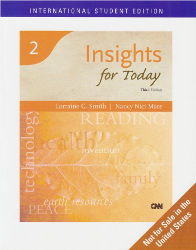 Reading for Today: A High Beginning Reading Skills Text: Smith, Lorraine C.; Mare, Nancy Nici