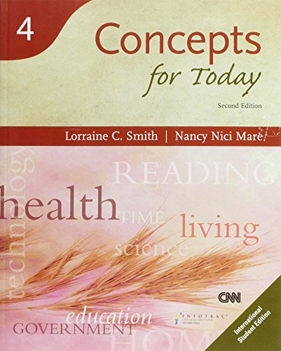 9781413000788: Reading for Today Series 4 - Concepts for Today Text (International Student Edition)