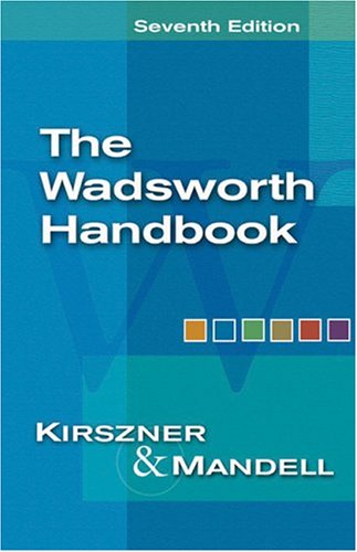 9781413001921: The Wadsworth Handbook (with InfoTrac) (Available Titles CengageNOW)