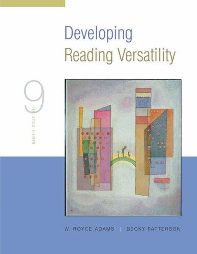 9781413002553: Developing Reading Versatility